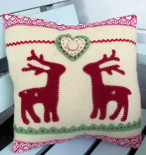 Nordic Reindeer Cushion