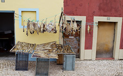 Drying fish in the streets, part of Peniche's trademark scent.