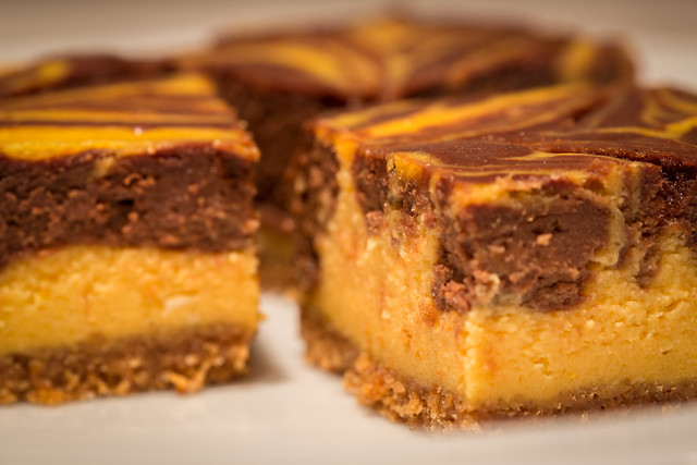 Marbled Pumpkin Cheesecake Squares | Flickr - Photo Sharing!