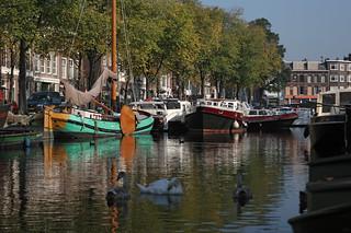 Barcos en el muelle de la Bierkade.