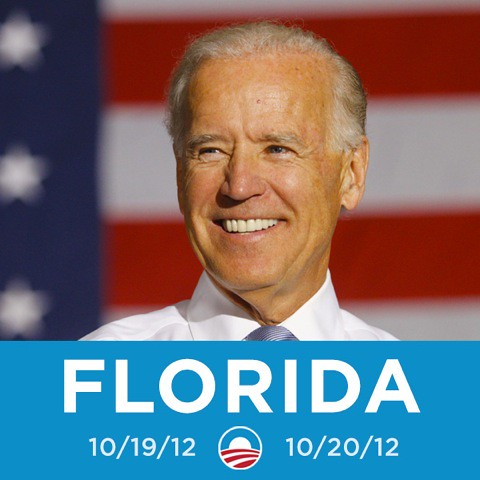 VP Biden is coming to Florida