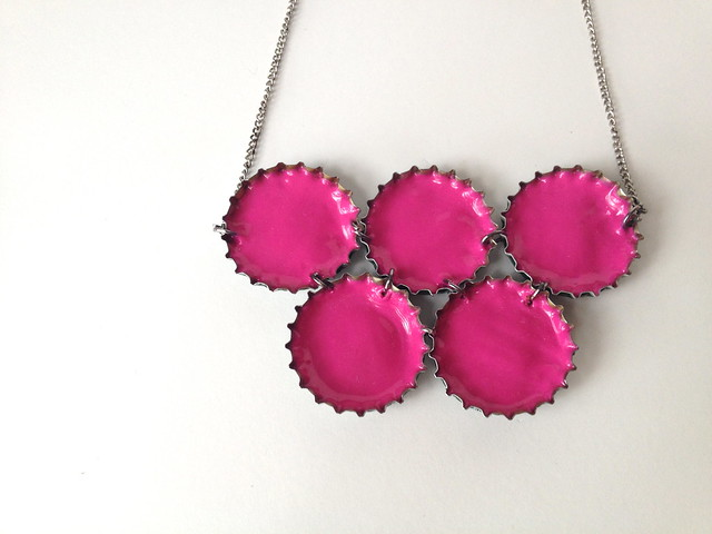 Upcycled Neon Necklace