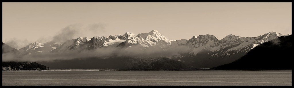 Turnagain Arm East B&W