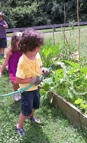 Young gardeners at St. Luke's United Methodist Church grow food for The Gardener's Share.
