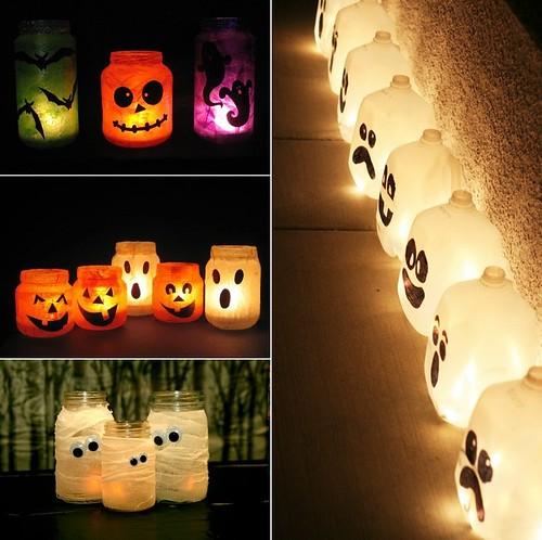 Linternas halloween con botes de cristal-tile
