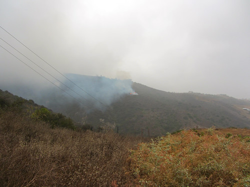 small Malibu brush fire on Saturday
