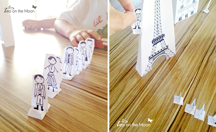 Recortable Torre Eiffel París 1