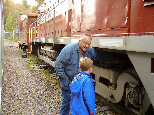 Checking out the trains electric motors