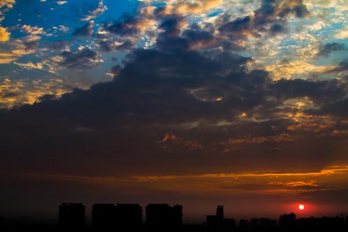 sunset night cloudy