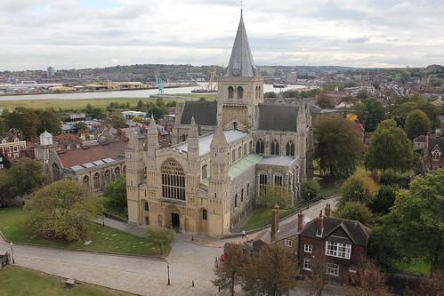 La cattedrale vista dal castello