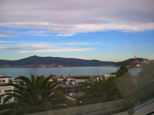 View from my room at AC Palacio Vigo Spain