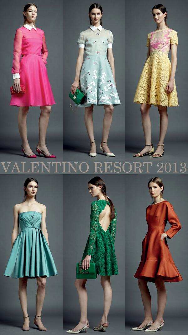 Valentino Resort 2013, images via Style.com | Emma Lamb