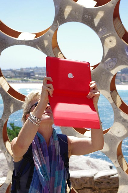 iPad photography - 2012 Sculptures By The Sea - Tamarama to Bondi walk