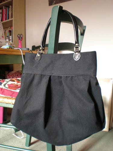 Black Pinstripe Bag