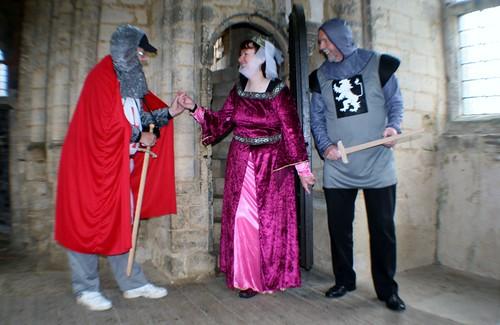Reenactment at Castle Rising