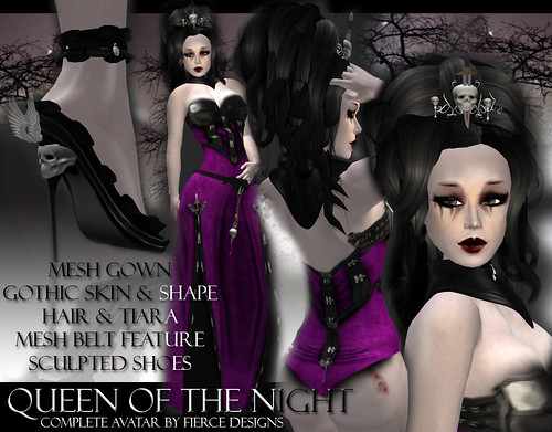 queen of the night (purple) by fierce designs