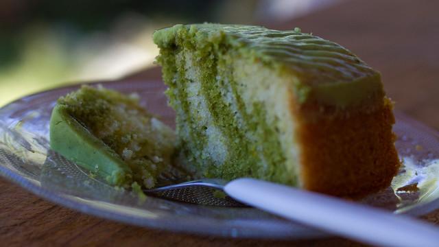Bolo Mármore de Chá Verde