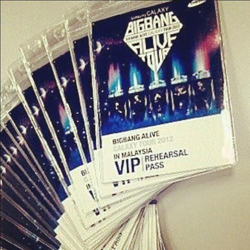 Pass VIP utk masuk ke rehersal Konsert BigBang dah ada di tangan. Sape nak? Wow Fantastic Baby!
