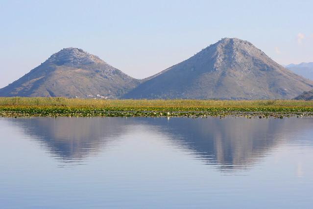 Twin peaks, Vranjina island, Lake Skadar