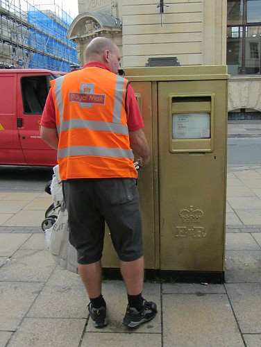 Gold postbox for Olympian Alex Gregory