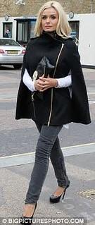 Katherine Jenkins Cape Coat Celebrity Style Women's Fashion