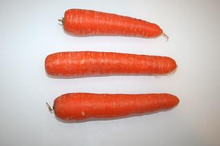 02 - Zutat Möhren / Inredient carotts