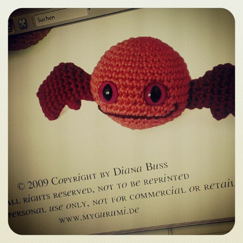 Day 28: looking back: 2009 I first created a #halloween #amigurumi it was a #bat