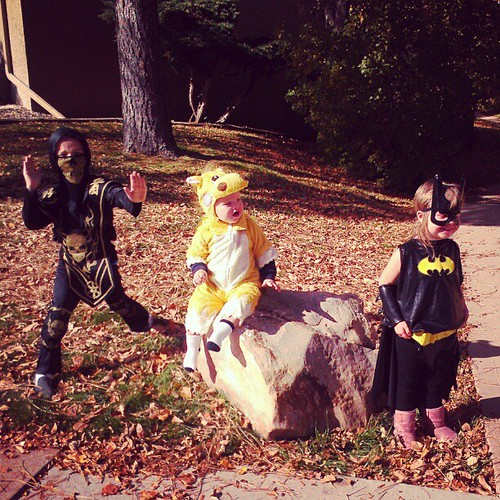Judah the skeleton ninja, Ari the horse, Ora the batgirl