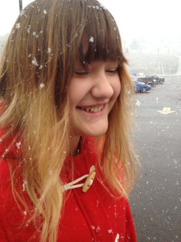 Snowflakes that stay on my nose and eyelashes!
