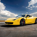 Yellow Ferrari 458 Italia by FotosByAlex