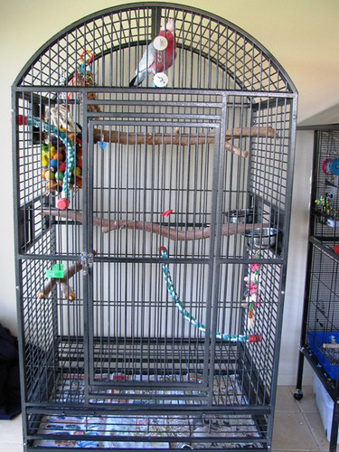 My friend's galah's cage - full view.