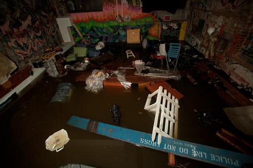 C-Squat basement flooded