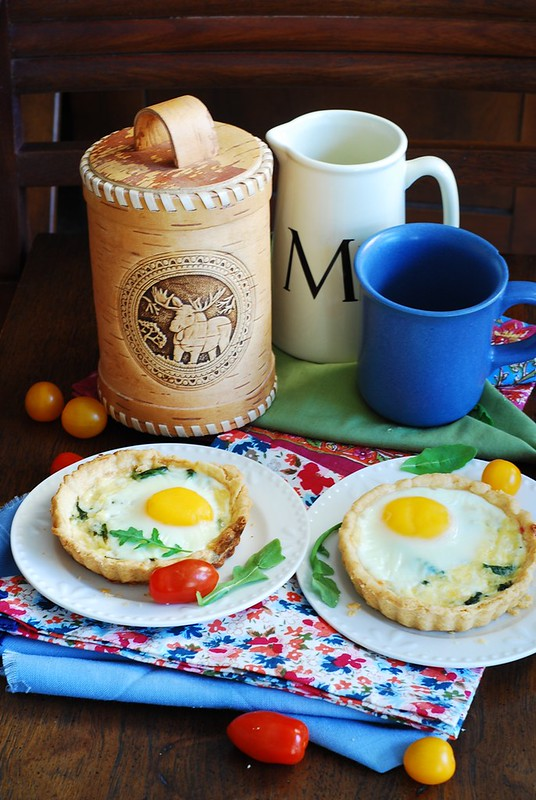 Baked bacon egg breakfast cups, breakfast tartlets