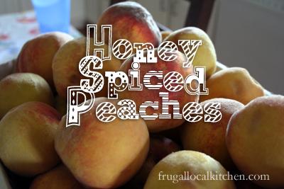 Honey spiced peaches