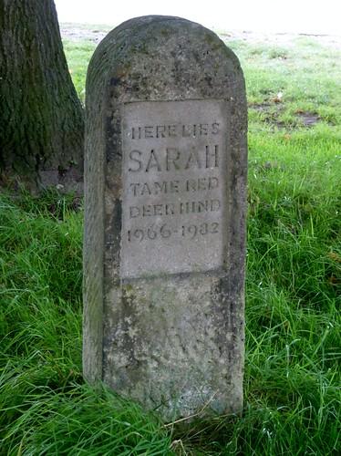 Memorial stone to a deer ...