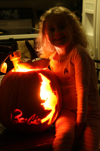 Auttie-by-her-lit-up-pumpkin