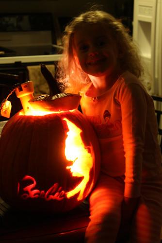 Auttie-by-her-lit-up-pumpkin