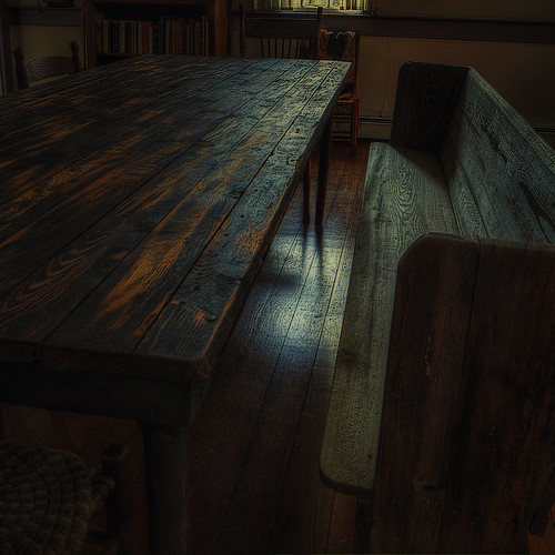 wood canon bench table warm antique hdr 60d