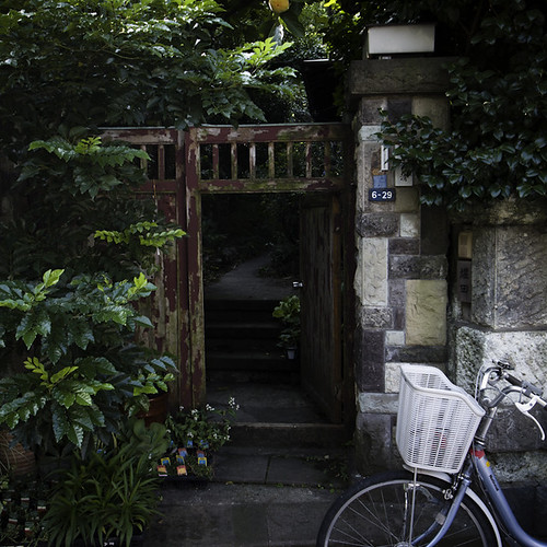 Yanaka 6-26 with Gate and Bicycle