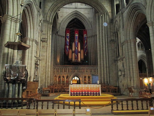 aRipon Cathedral, Yorkshirefront altar and figures