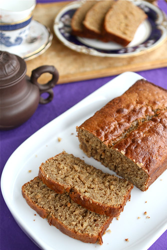 Peanut Butter &; Banana Whole Wheat Quick Bread Recipe by Cookin' Canuck