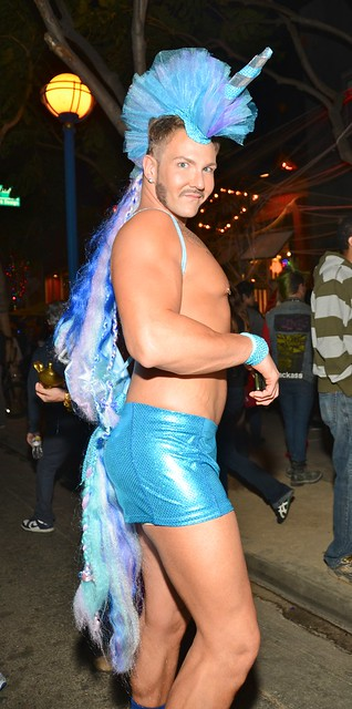 Halloween West Hollywood 2012  Drag Queen in Shorts