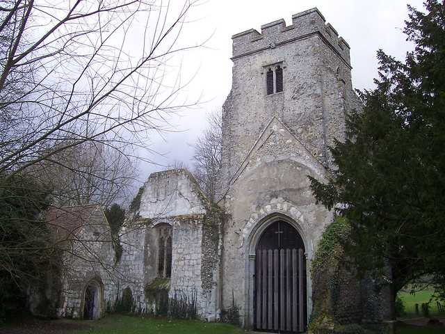 The remains of St Mary's Church, Eastwell