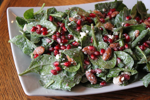 Pomegrante Spinach Salad