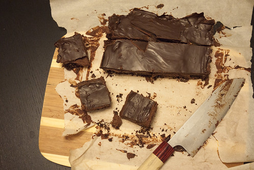 Vegan Gluten-Free Triple Chocolate Nanaimo Bars
