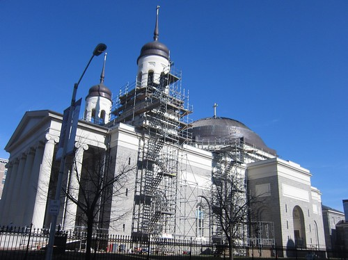 Restoration in process at the Basilica of the Assumption, January 10, 2013