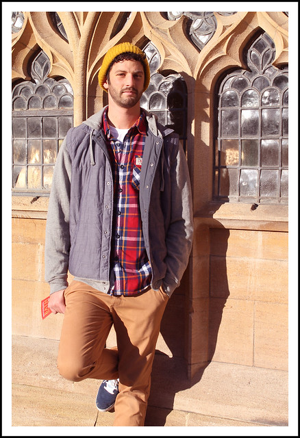 Men's outfit post Superdry shirt