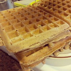 breakfast, belgian waffle, food, dish, cuisine, waffle,