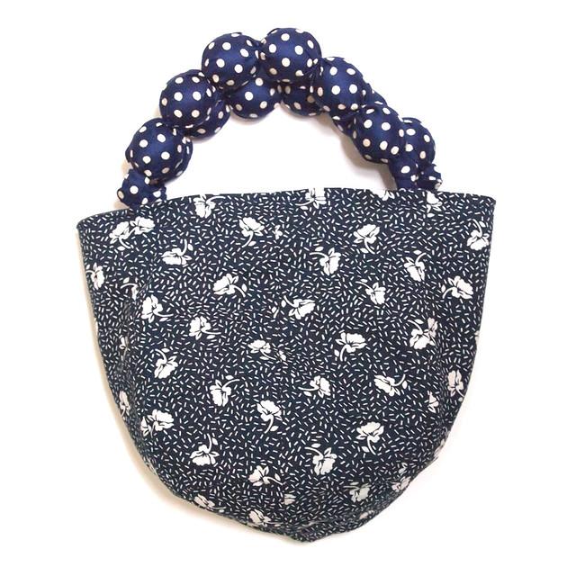 upcycled fabric bucket bag
