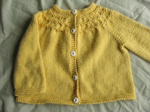 Yellow baby sweater 1